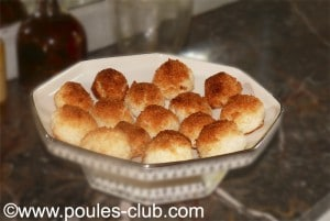 Boules coco réalisées par Poule's Club