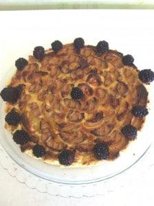 Délicieuse tarte pommes et mûres