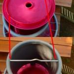 Montage du couvercle sur la mangeoire
