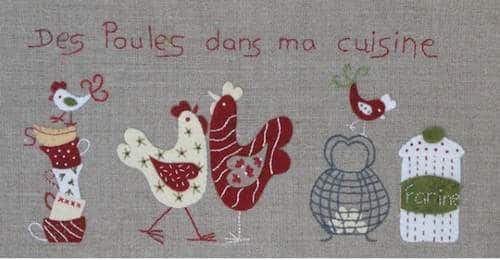 D co cuisine theme poule for Decoration de cuisine en crochet