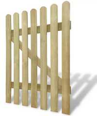 Portail en bois pour enclos poules